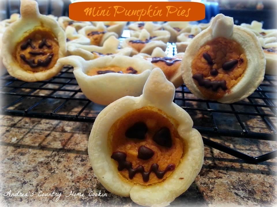 Mini Pumpkin Pies Andrea S Country Home Cookin